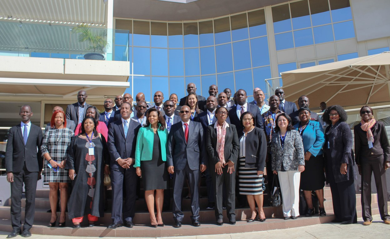 Chief Investment Officer for the Chicago Teachers' Pension Fund Angela Miller-May and other asset owners during a investor delegation visit to Dakar, Senegal.
