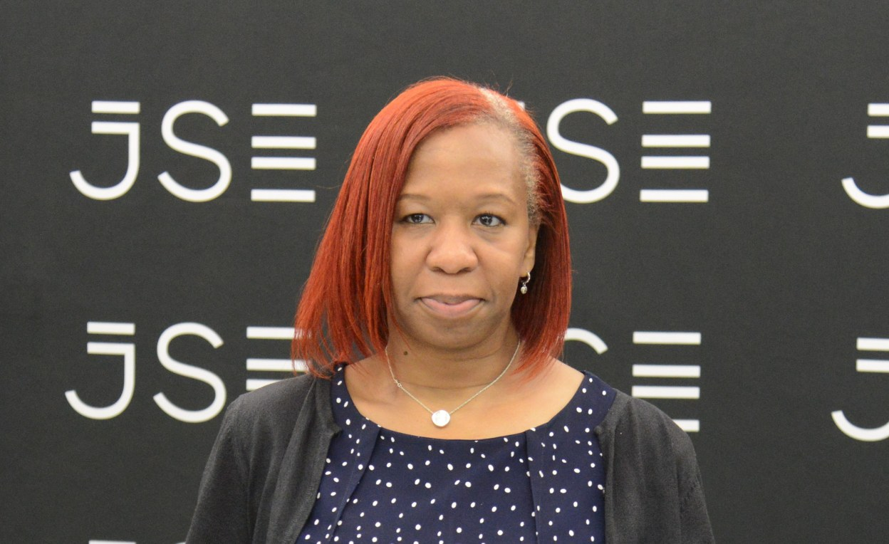 Chief Investment Officer for the Chicago Teachers' Pension Fund Angela Miller-May at the Johannesburg Stock Exchange during an investor visit to South Africa.